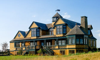 Coastal shingle style home