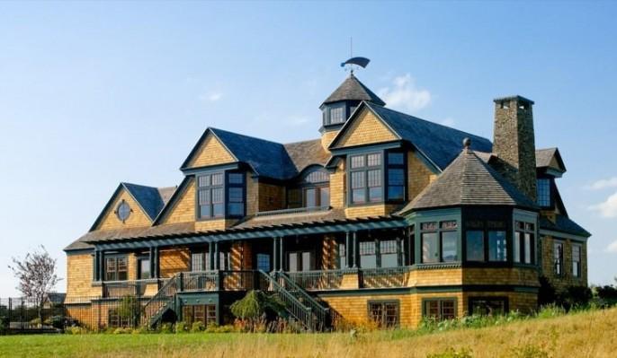 Coastal shingle style home